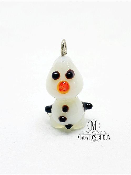 Pingente Inspirado No Olaf - Murano