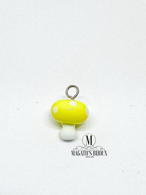 Pingente Cogumelo Amarelo