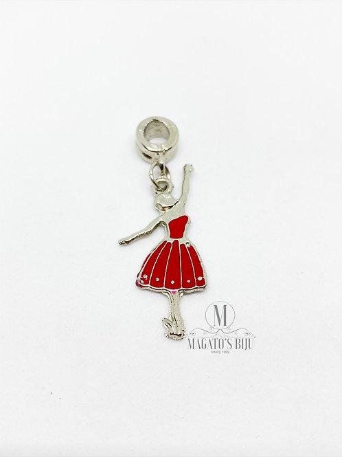 Berloque Bailarina Vermelha