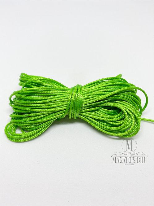 Cordão Encerado Verde Brilhoso (Fino)