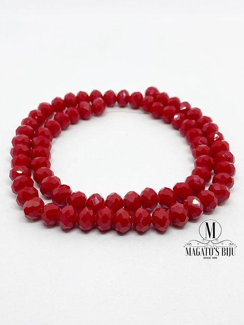 Fio de Cristal Nº08 Vermelho 001