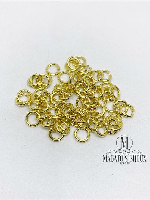 Argolinha Dourada Latão  N 06