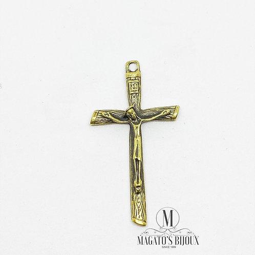 Pingente de Crucifixo Ouro Velho