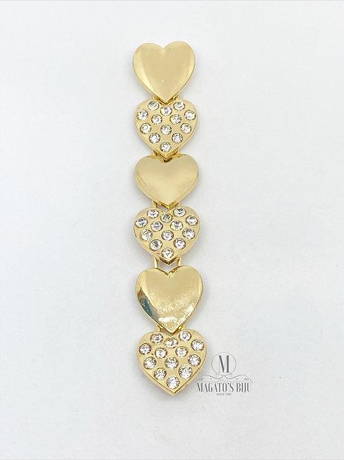 Cabedal Coração Dourado 026