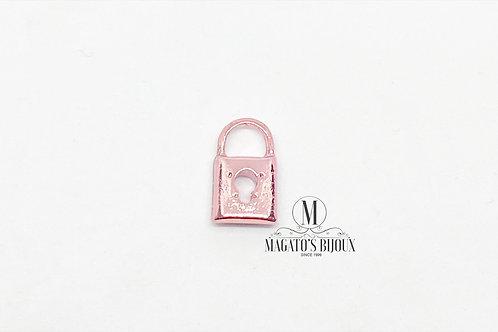 Mini Pingente Cadeado Rosa