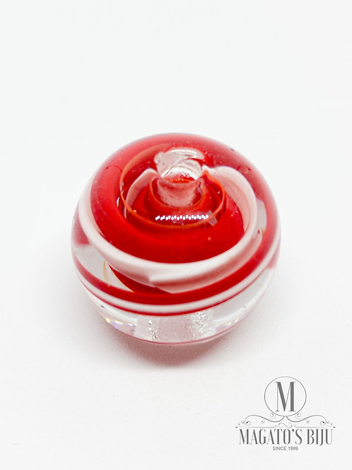 Bola Vermelha e Branca c/ Transparente
