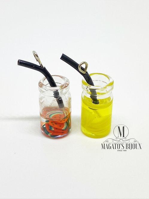 Pingente Drinks (Melancia e Limão Siciliano)