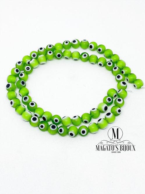 Fio de Olho Grego Verde N 06