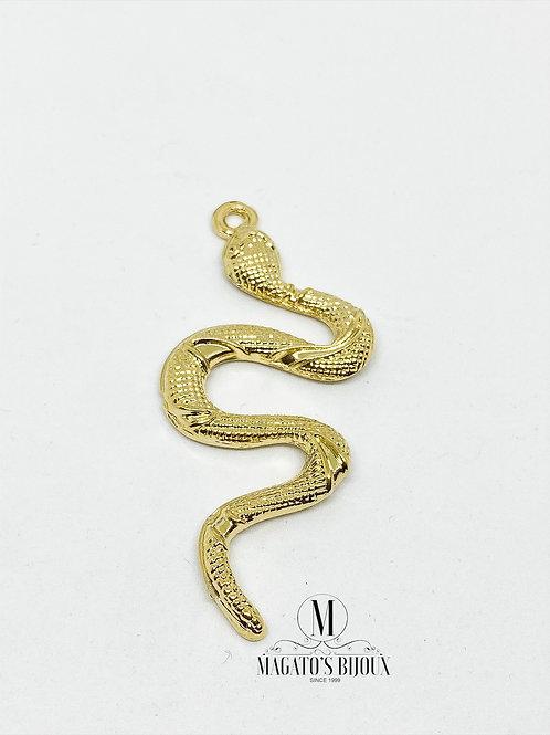 Pingente Cobra Dourada