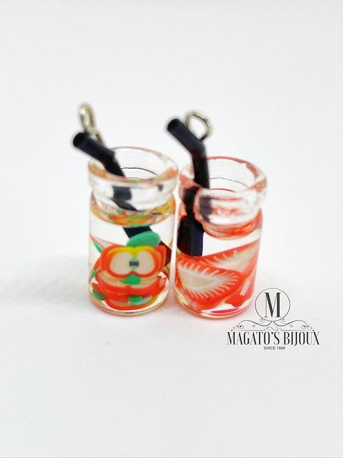 Pingente Drinks (Maçã e Morango)