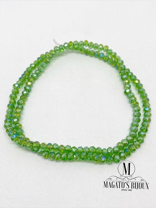Fio de Cristal Verde Folha Boreal N 04
