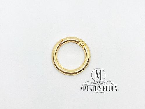 Fecho de Argola de Metal Dourado 2.0cm