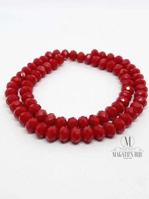 Fio de Cristal Nº08 Vermelho 002