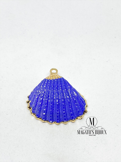 Pingente de Concha Azul