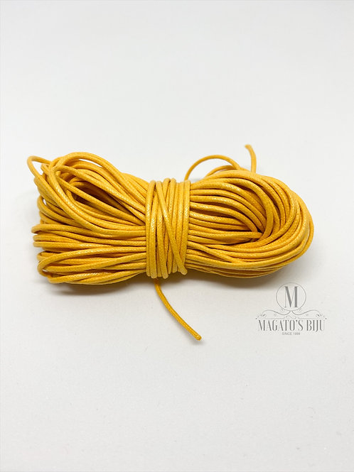 Fio Encerado Amarelo Mostarda (Fino)
