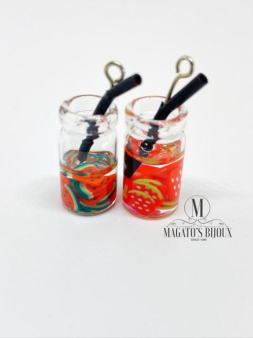 Pingente Drinks (Melancia e Morango)