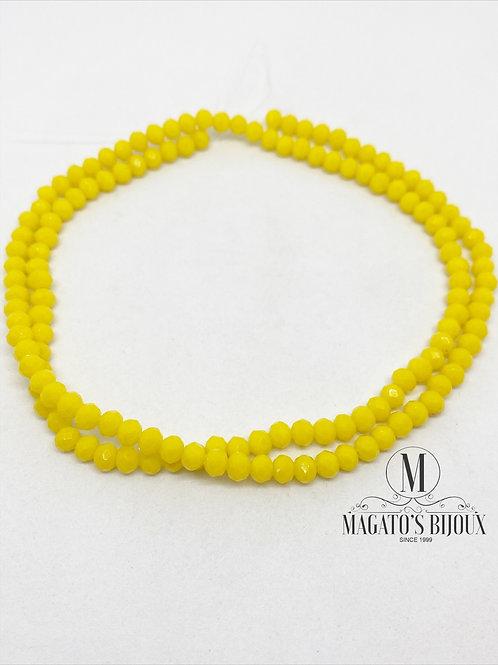 Fio de Cristal Amarelo 01 N° 04