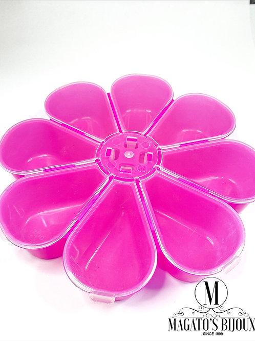Caixa Organizadora Flor Pink Leitosa
