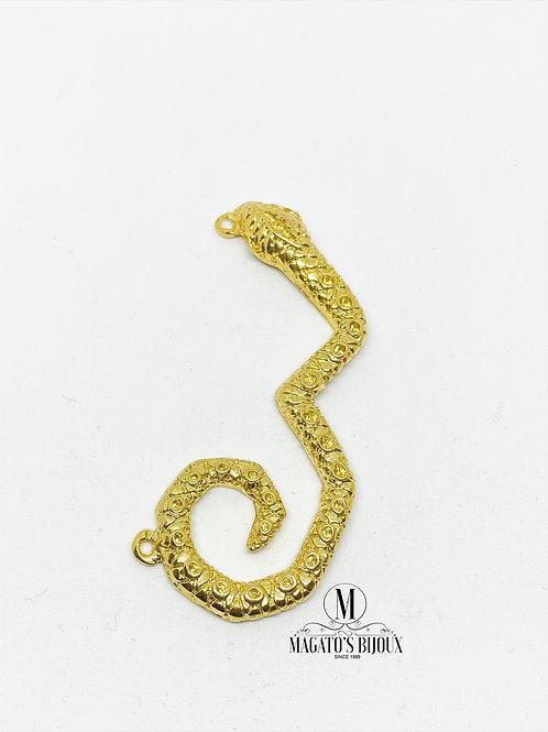 Pingente de Cobra Dourado