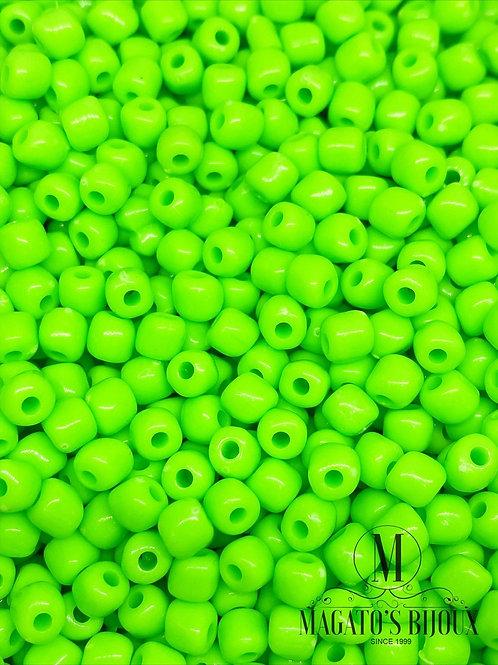 Miçanga Acrílica Verde Neon