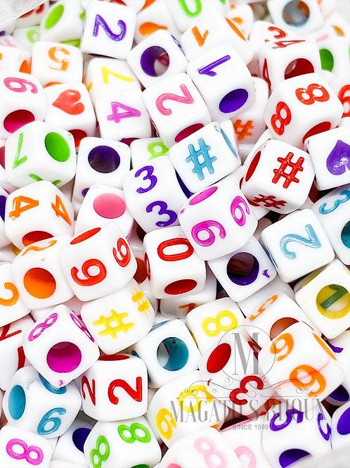Contas de Números Colorido