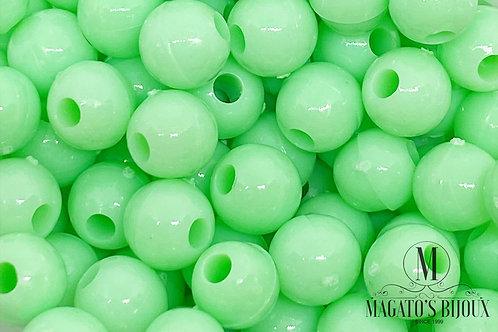 Bolinhas de Plástico Verde Candy Color N 06