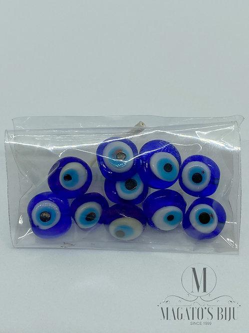 Olho Grego Achatado Furo Passante Azulão