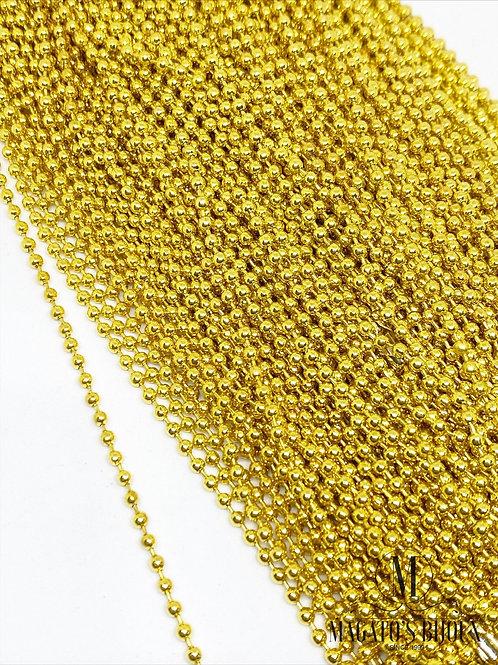 Corrente de Bolinha Ferro Dourada N•2.5