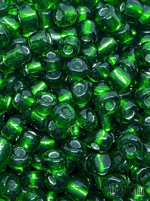Miçanga Chinesa Verde Transparente