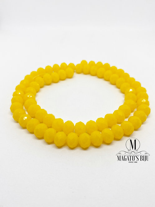 Fio de Cristal Nº08 Amarelo 002