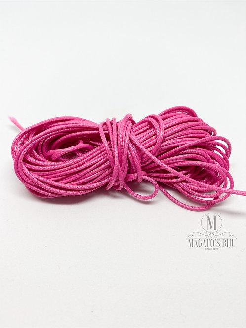 Cordão Encerado Rosa Pink Brilhoso (Fino)