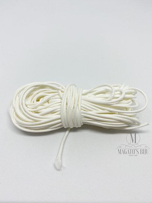 Cordão Encerado Branco Brilhoso (Fino)