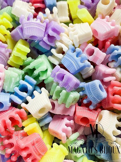 Contas Candy Color Coroa (ATACADO)