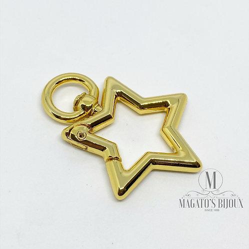 Fecho Mosquetão Dourado Estrela