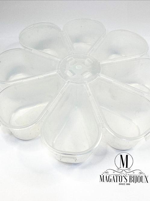 Caixa Organizadora Flor Transparente