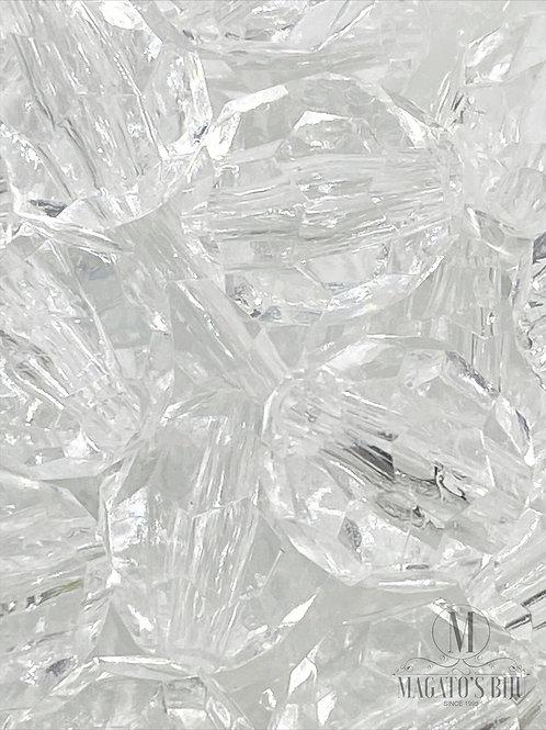Bolinha Acrílica Facetada Transparente Nº14