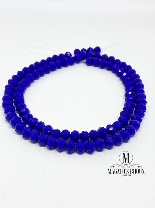 Fio de Cristal Azul Royal N° 08