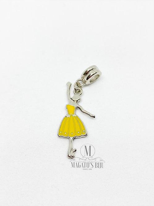 Berloque Bailarina Amarela