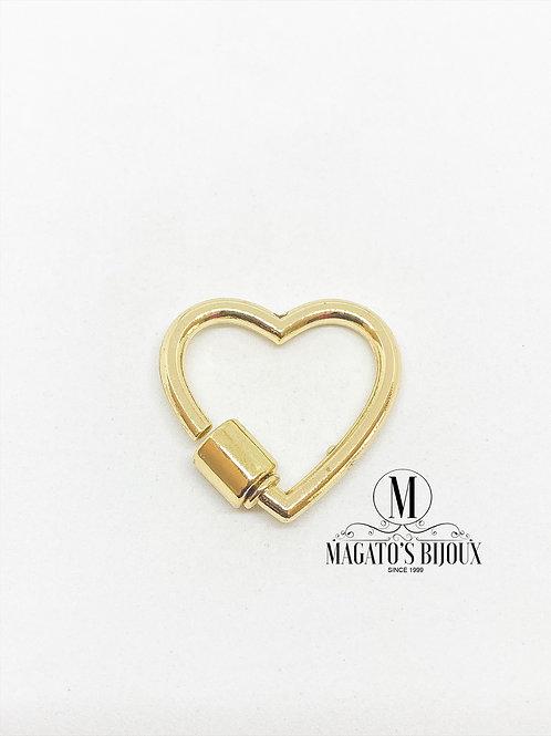 Fecho Coração Dourado