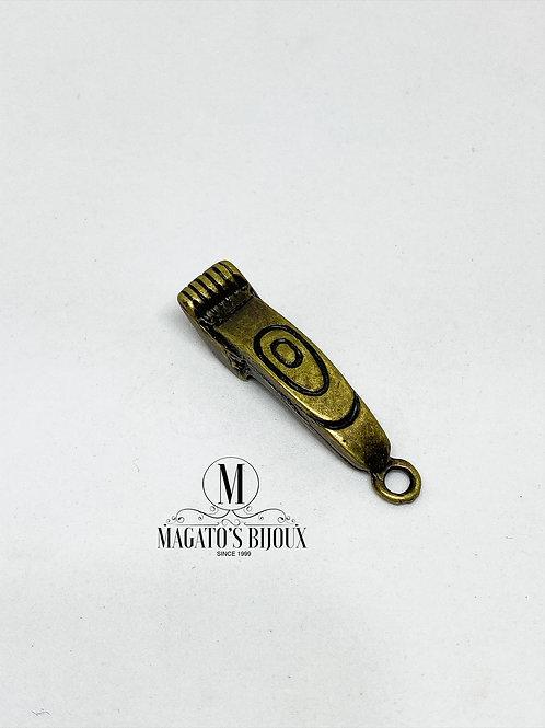 Pingente Máquina de Barbear Ouro Velho