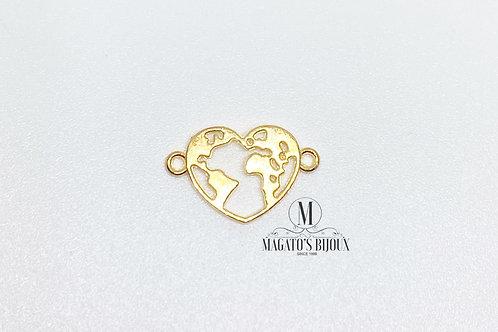 Entremeio Mundo (Coração) - Dourado