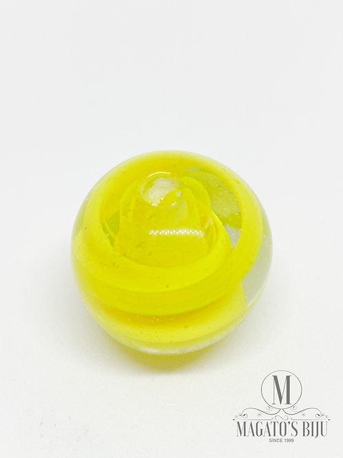 Bola Transparente c/ Amarelo
