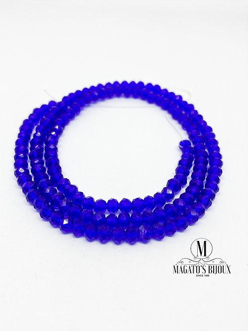 Fio de Cristal Azul Royal Transparante N° 04