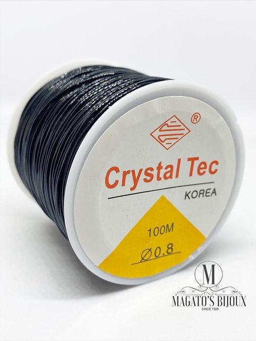 Elástico de Silicone Preto Nº08