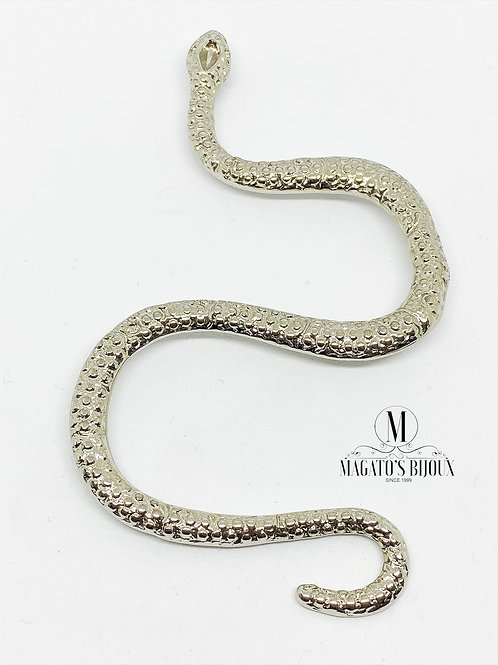Pingente Cobra Níquel