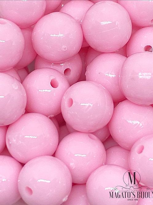 Bolinhas de Plástico Rosa Bebê N 08
