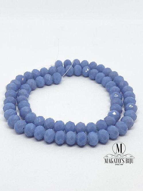 Fio de Cristal Nº08 Azul Claro Leitoso 001