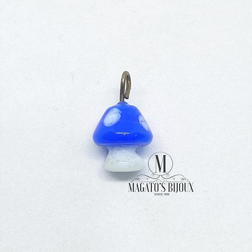 Pingente Cogumelo Azul - Murano
