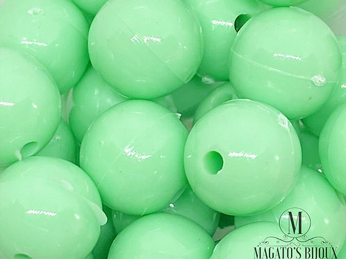 Bolinhas de Plástico Verde Candy Color N 10