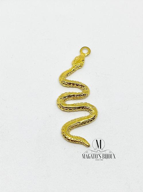 Pingente Cobra Dourado
